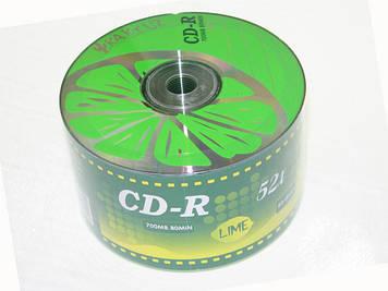 """CD-R """"Kaktuz"""" 52x 700mb bulk(50)Lime"""