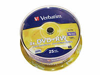 "DVD+RW ""Verbatim"" 4х 4.7Gb/120min штир(25)"