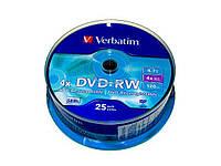 "DVD-RW ""Verbatim"" 4х 4.7Gb/120min штир(25)"