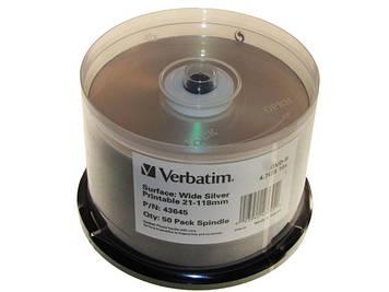 DVD+R 16х 4.7 Gb/120min Verbatim штир(50)printable матів.