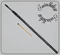 Шнурок  плоский пропитка 1,2м узкий 4мм черный