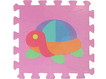 Килимок-мозаїка,10дет.(9мм,30х30см) Фрукти, тварини,EVA,в пакунку,30х30х8см №M0376(12)