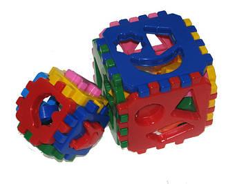 """Куб-сортер """"Розумний малюк"""" 1+1.""""Технокомп"""" №1899(15)"""