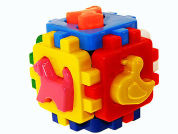"""Куб-сортер """"Розумний малюк"""" з фігурками свійських тварин,""""Технокомп"""" №1943(48)"""