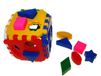 """Куб-сортер """"Розумний малюк"""" Логіка-Комбі,46 елементів,""""Технокомп"""" №2476(12)"""