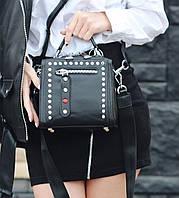 Женская стильная кожаная сумка через на плечо Polina & Eiterou