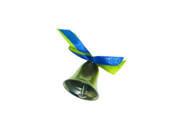 Дзвіночок випускника з жовто-блакитною стрічкою