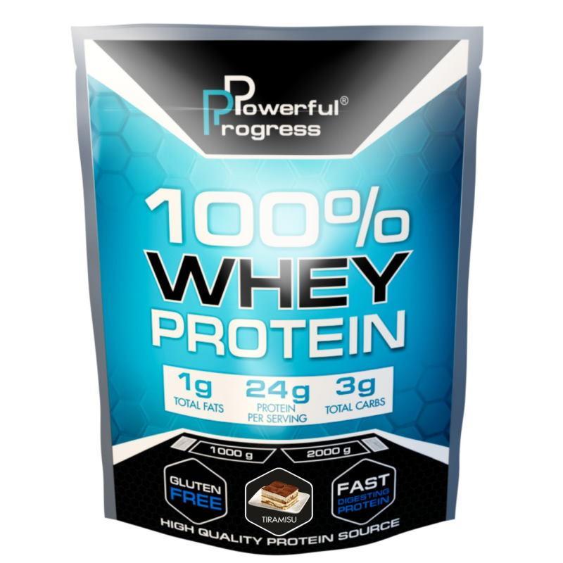 Протеин Powerful Progress 100% Whey Protein, 1 кг Тирамису