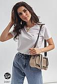 Прозрачная сумка на плечо с отстегивающимся клатчем. Модель 24461
