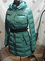 Удлиненный пуховик snowimage b317а голубой XL