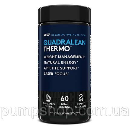 Жиросжигатель RSP Nutrition Quadralean Thermogenic 180 капс. (60 порц.), фото 2