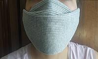 Медицинская маска многоразовая - двухслойная тканная серая
