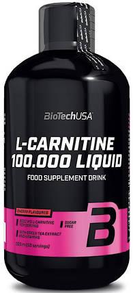 Л-карнитин BioTech USA L-Carnitine 100 000 Liquid 500 мл, фото 2