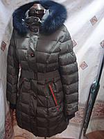 Удлиненный пуховик snowimage b517 хаки