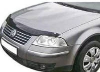 Мухобойка на капот. Дефлектор капота Volkswagen \ VW Passat 1997-2000 в5 \ Фольксваген Пассат Б5  (02100)