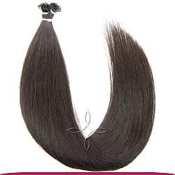 Натуральные Европейские Волосы на Капсулах 60 см 100 грамм, Шоколад №02