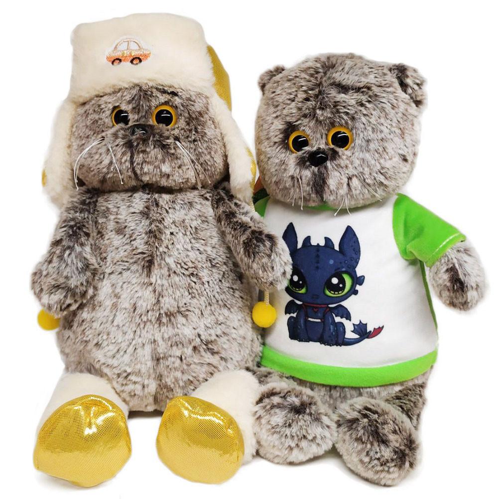 Мягкая игрушка Basik&Co Кот Басик бариста 19 см — купить по ... | 1001x1000