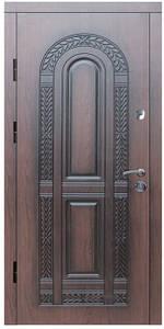 """Входные двери металлические, рис. """"БП"""" №1, Цвет ПВХ-72, черная патина"""
