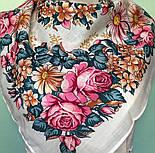 Танец феи 1673-0, павлопосадский платок шерстяной  с осыпкой (оверлоком), фото 4
