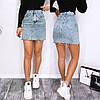 Женская короткая джинсовая юбка