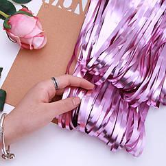 Шторка фольга для фотозоны 1х2 метра (розовая)