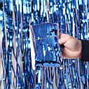 Шторка фольга для фотозоны 1х2 метра (синяя), фото 2