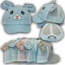 ОПТ Кепки с ушками и сеткой для малышей, 48 р. (5шт/упаковка)