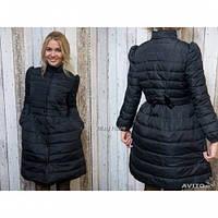 Куртка пальто Бантик черная,куртки интернет магазин