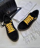 Туфли Dr.Martens черные из натуральной замши