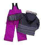 Зимний костюм для девочки PELUCHE & TARTINE F19M56EF Black/Dahlia. Размеры 3 - 8 лет., фото 2
