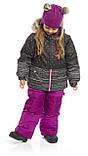 Зимний костюм для девочки PELUCHE & TARTINE F19M56EF Black/Dahlia. Размеры 3 - 8 лет., фото 3