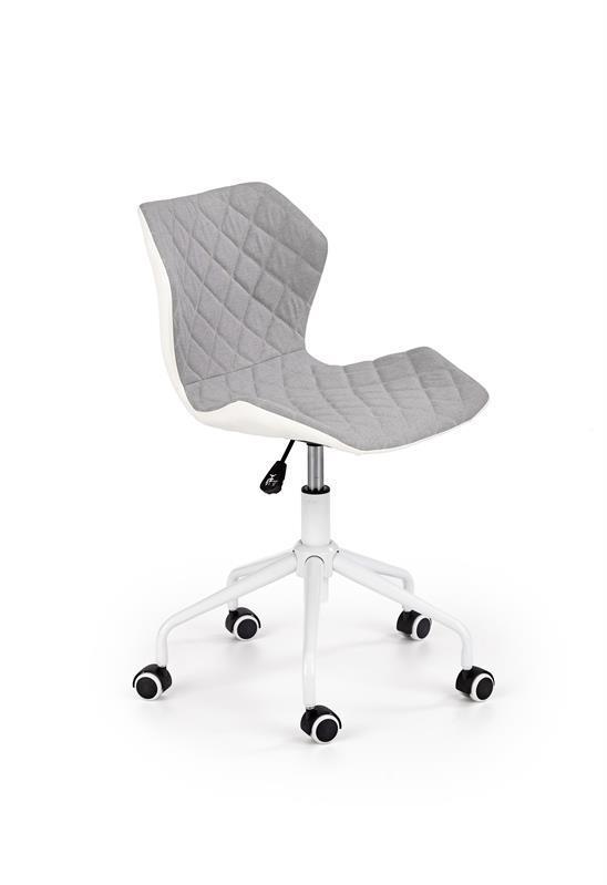Кресло компьютерное MATRIX 3 светло серый/белый (Halmar)