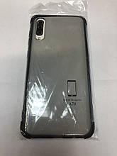 Чохол Samsung A70 прозорий з чорною рамкою
