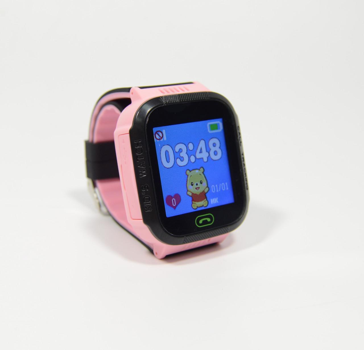 Дитячі годинники з камерою, кнопкою sos (Smart Watch F1) рожеві