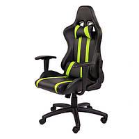 Крісло комп'ютерне Zebra чорно/зелене