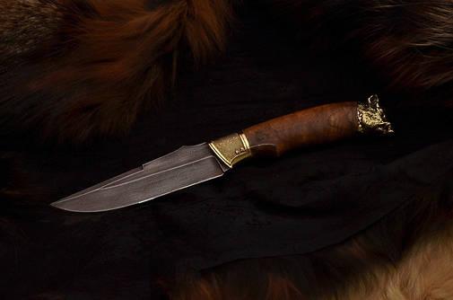 """Охотничий нож ручной работы """"Вепрь"""", дамаск, фото 2"""