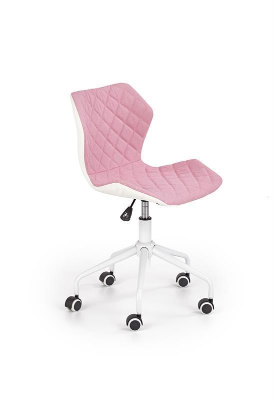 Кресло компьютерное MATRIX 3 светло розовый/белый (Halmar)