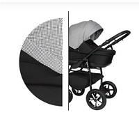 Универсальная детская коляска 2 в 1 Baby Merc Zipy Q (135В) Серая/черная