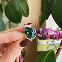 Серебряное кольцо с крупным камнем