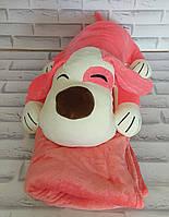 Игрушка собака розовое внутри с пледом 110х160 см Х-881