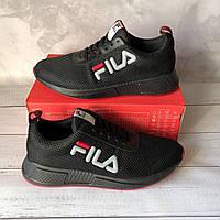 Мужские черные кроссовки в силе Fila, фото 1