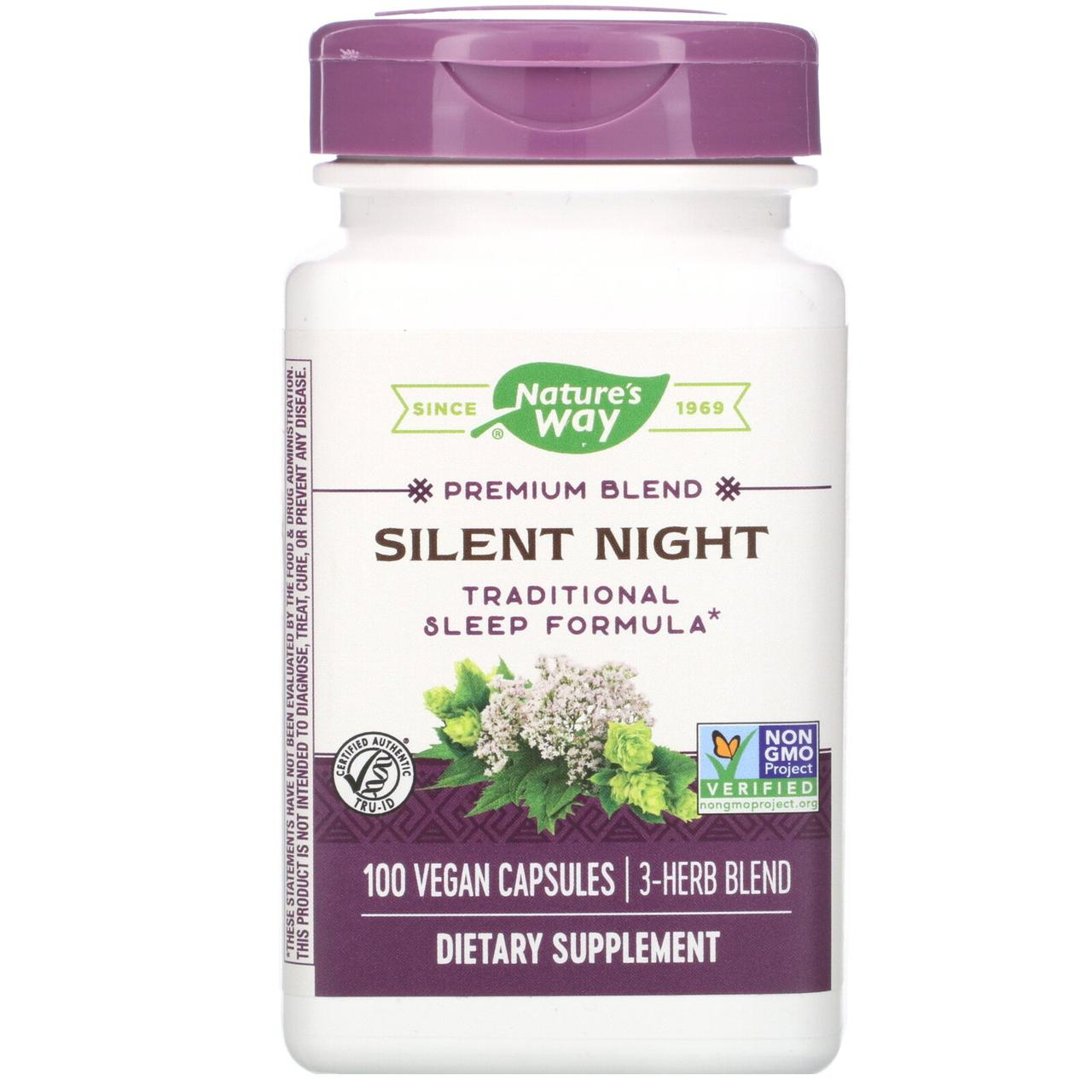 """Комплекс трав для улучшения сна Nature's Way """"Silent Night"""" 1760 мг (100 капсул)"""