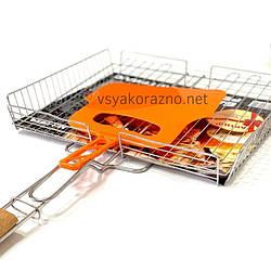 Решетка для гриля на мангал (36*32 см) + веер / Решітка для гриля і барбекю на мангал