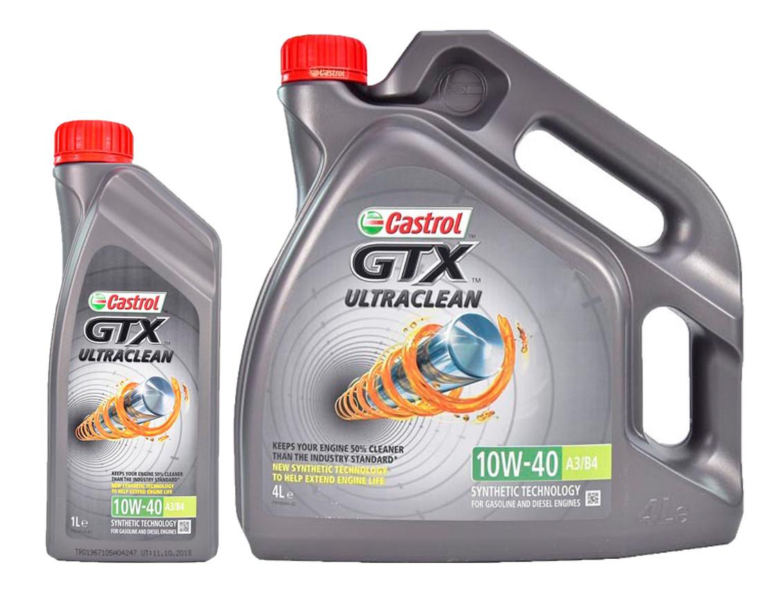 Моторное масло Castrol GTX Ultraclean A3/B4 10W-40 1 л