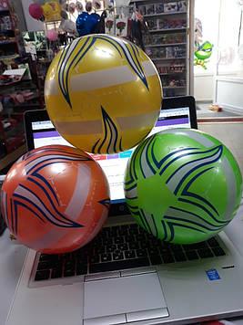 Мячик для детей зеленый в полоску