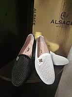 Женские летние туфли из перфорированной кожи, фото 1