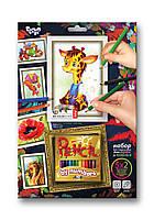 Картина по номерам КАРАНДАШАМИ от 3+ Жирафа 5 рисунков в наборе