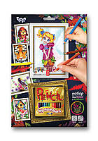 Картина по номерам КАРАНДАШАМИ от 3+ Девчушка 5 рисунков в наборе