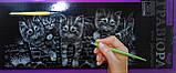 Гравюра панорама Котята Серебро, фото 4