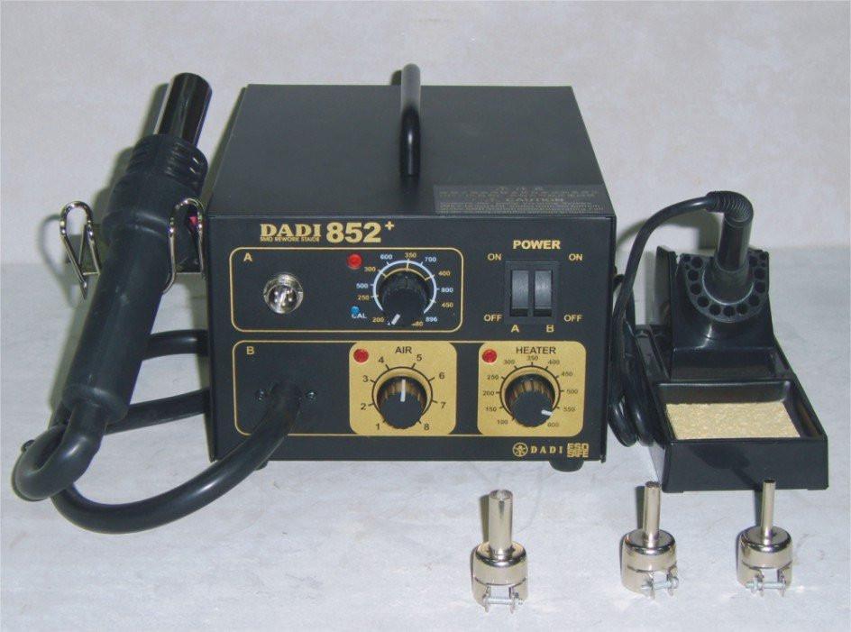 Паяльная станция DADI 852+. Термофен+ 3 разные насадки.